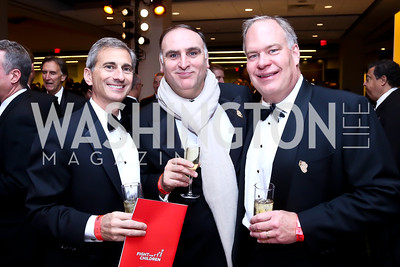 Tony Nader, José Andrés, Rock Tonkel. Photo by Tony Powell. 2013 Fight Night. Hilton Hotel. November 14, 2013