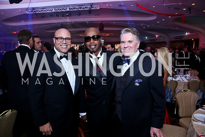 Michael Powell, MC Hammer, Jack Quinn. Photo by Tony Powell. 2013 Fight Night. Hilton Hotel. November 14, 2013