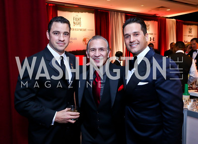 "Steve Battista, Ray ""Boom Boom"" Mancini, Chris Tavlarides. Photo by Tony Powell. 2013 Fight Night. Hilton Hotel. November 14, 2013"