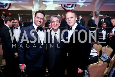 Chris Tavlarides, Ted Leonsis, Mark Ein. Photo by Tony Powell. 2013 Fight Night. Hilton Hotel. November 14, 2013