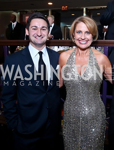 Zach Leonsis, Rebecca Cooper. Photo by Tony Powell. 2013 Fight Night. Hilton Hotel. November 14, 2013