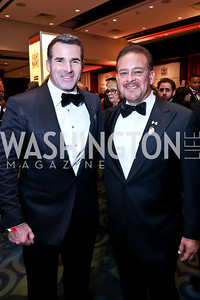 Co-Chairs Kevin Plank and Raul Fernandez. Photo by Tony Powell. 2013 Fight Night. Hilton Hotel. November 14, 2013