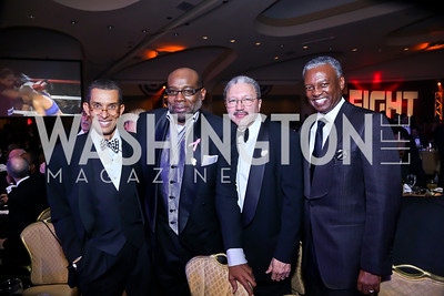 Gene Adams, Dwaine Ross, Mike Skehan, Art Collins. Photo by Tony Powell. 2013 Fight Night. Hilton Hotel. November 14, 2013