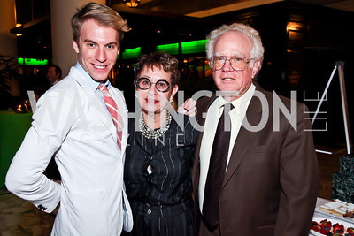 "Zack Lynch, Dottie Bennett, Richard Morton. Photo by Tony Powell. Ford's Theatre ""Hello Dolly"" Opening Reception. Old Ebbitt Grill. March 20, 2013"