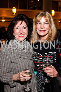 "Robin Fitch, Carol Kimmitt. Photo by Tony Powell. Ford's Theatre ""Hello Dolly"" Opening Reception. Old Ebbitt Grill. March 20, 2013"