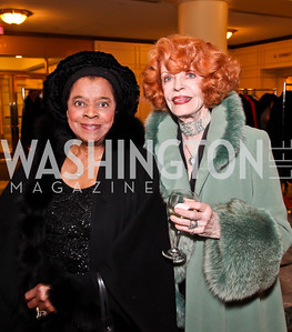 "Savanna Clark, Joanne Bauers. Photo by Tony Powell. Ford's Theatre ""Hello Dolly"" Opening Reception. Old Ebbitt Grill. March 20, 2013"