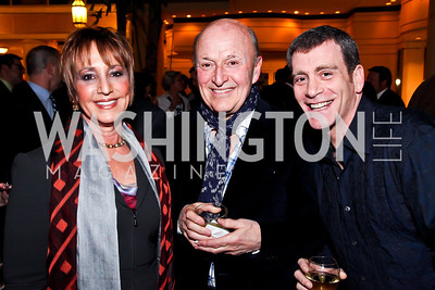 "Bonnie Feld, Victor Shargai, Bobby Smith. Photo by Tony Powell. Ford's Theatre ""Hello Dolly"" Opening Reception. Old Ebbitt Grill. March 20, 2013"