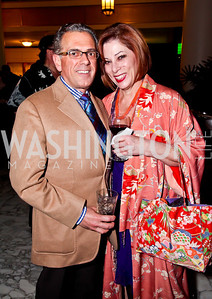 "Fred Ogniben, Sarah Valente. Photo by Tony Powell. Ford's Theatre ""Hello Dolly"" Opening Reception. Old Ebbitt Grill. March 20, 2013"