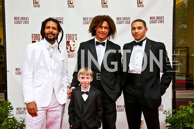 Omar Edwards, Luke Spring, Leo and John Manzari. Photo by Tony Powell. 2013 Ford's Theater Annual Gala. June 2, 2013
