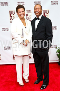 Debra Lee, Thomas Motley. Photo by Tony Powell. 2013 Ford's Theater Annual Gala. June 2, 2013