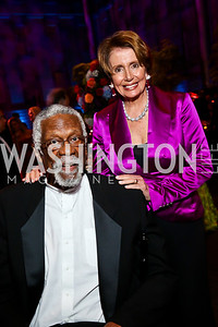 Bill Russell, Leader Nancy Pelosi. Photo by Tony Powell. 2013 Ford's Theater Annual Gala. June 2, 2013