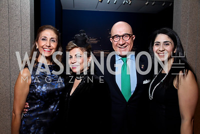 "Gissou Kian, Annie Totah, Bijan Kian, Christine Kian. Photo by Tony Powell. Freer Sackler Gala Opening for ""The Cyrus Cylinder and Ancient Persia: A New Beginning."" March 5, 2013"