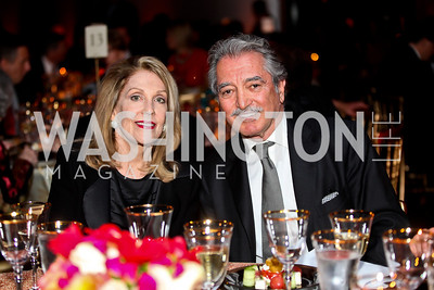 "Dame Jillian Sackler, Alireza Rastegar. Photo by Tony Powell. Freer Sackler Gala Opening for ""The Cyrus Cylinder and Ancient Persia: A New Beginning."" March 5, 2013"
