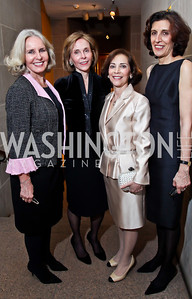 "Sally Quinn, Eden Rafshoon, Lady Westmacott, Massumeh Farhad. Photo by Tony Powell. Freer Sackler Gala Opening for ""The Cyrus Cylinder and Ancient Persia: A New Beginning."" March 5, 2013"