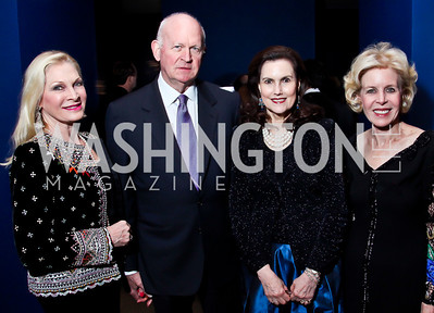 "Susan and Michael Pillsbury, Alexandra de Borchgrave, Ann Nitze. Photo by Tony Powell. Freer Sackler Gala Opening for ""The Cyrus Cylinder and Ancient Persia: A New Beginning."" March 5, 2013"