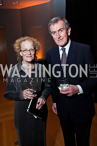 "Fiammetta Rocco, Neil MacGregor. Photo by Tony Powell. Freer Sackler Gala Opening for ""The Cyrus Cylinder and Ancient Persia: A New Beginning."" March 5, 2013"