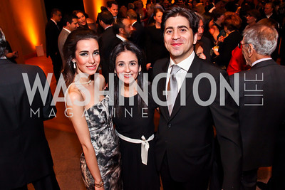 "Tara Kangarlou, Sheila and Afshin Molavi. Photo by Tony Powell. Freer Sackler Gala Opening for ""The Cyrus Cylinder and Ancient Persia: A New Beginning."" March 5, 2013"