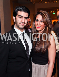 """Ramin Jahanbani, Rose Araghchy. Photo by Tony Powell. Freer Sackler Gala Opening for """"The Cyrus Cylinder and Ancient Persia: A New Beginning."""" March 5, 2013"""