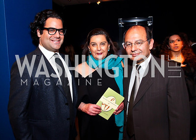 """Saadi, Fatema, and Abolala Soudavar .Photo by Tony Powell. Freer Sackler Gala Opening for """"The Cyrus Cylinder and Ancient Persia: A New Beginning."""" March 5, 2013"""
