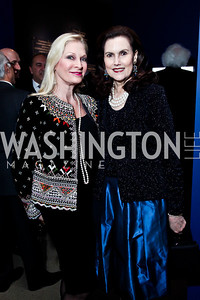 "Susan Pillsbury, Alexandra deBorchgrave. Photo by Tony Powell. Freer Sackler Gala Opening for ""The Cyrus Cylinder and Ancient Persia: A New Beginning."" March 5, 2013"