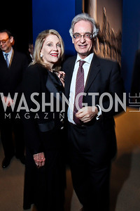 "Dame Jillian Sackler, Julian Raby. Photo by Tony Powell. Freer Sackler Gala Opening for ""The Cyrus Cylinder and Ancient Persia: A New Beginning."" March 5, 2013"