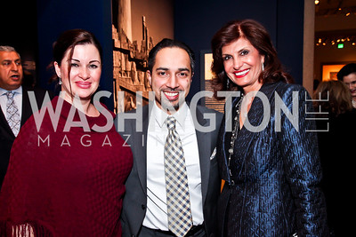"""Amina Semlali, author Trita Parsi, Mitra Lore. Photo by Tony Powell. Freer Sackler Gala Opening for """"The Cyrus Cylinder and Ancient Persia: A New Beginning."""" March 5, 2013"""