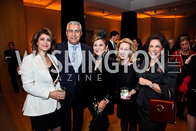 "Haleh and David Niroo, Annie Totah, Nancy Itteilag, Shahin Mafi. Photo by Tony Powell. Freer Sackler Gala Opening for ""The Cyrus Cylinder and Ancient Persia: A New Beginning."" March 5, 2013"