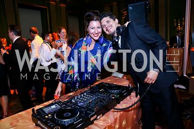 Kristin Guiter, Rob Garza. Photo by Tony Powell. Some Enlightened Evening. Andrew Mellon Auditorium. October 17, 2013