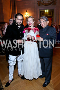 Siddharth Kasliwal, Jana Pasquel, Rakesh Mohan. Photo by Tony Powell. Some Enlightened Evening. Andrew Mellon Auditorium. October 17, 2013