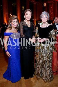 Annie Totah, Empress Farah Pahlavi, Helen Jessup. Photo by Tony Powell. Some Enlightened Evening. Andrew Mellon Auditorium. October 17, 2013
