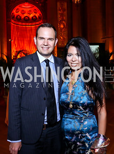Steve Rochlin, Christina Sevilla. Photo by Tony Powell. Some Enlightened Evening. Andrew Mellon Auditorium. October 17, 2013