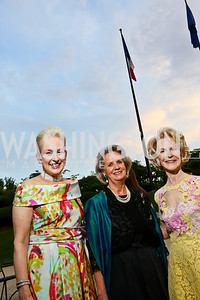 Jeannie Rutherfoord, Michelle Imhoff, Elizabeth Stribling. Photo by Tony Powell. French Historical Society Benefit Dinner. La Maison Française. May 15. 2013