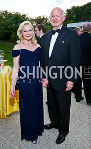 Susan and Michael Pillsbury. Photo by Tony Powell. French Historical Society Benefit Dinner. La Maison Française. May 15. 2013