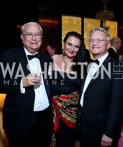 Count Vladimir Tolstoy, Rhoda Septilici, Mike Johnson. Photo by Tony Powell. 2013 Friends in Time of War Gala. Russian Federation. October 7, 2013