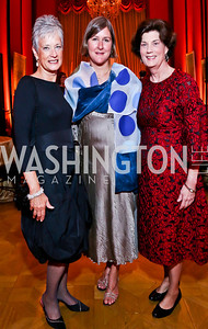 Hillwood Exec. Dir. Kate Markert, Kristen Regina, Amy Ballard. Photo by Tony Powell. 2013 Friends in Time of War Gala. Russian Federation. October 7, 2013