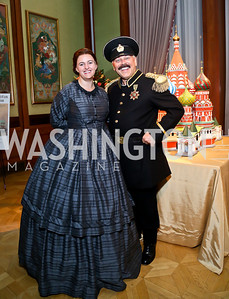 Samantha Smith as Martha Todd Lincoln, Mike Walker as Adm. Vassiliev. Photo by Tony Powell. 2013 Friends in Time of War Gala. Russian Federation.JPG