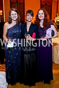 Becca Freeman, Katya Musacchio, Deborah Clifford. Photo by Tony Powell. 2013 Friends in Time of War Gala. Russian Federation. October 7, 2013