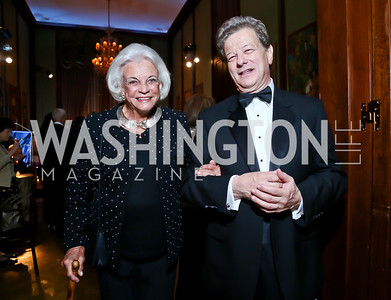 Ret. Justice Sandra Day O'Connor, Jerzy Sapieyevski. Photo by Tony Powell. 2013 Friends in Time of War Gala. Russian Federation. October 7, 2013