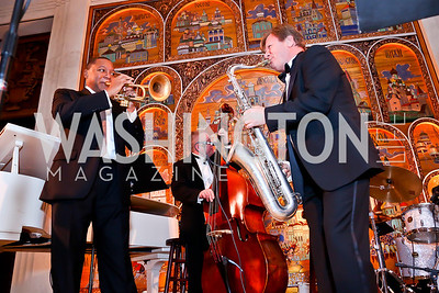 Wynton Marsalis, Igor Butman. Photo by Tony Powell. 2013 Friends in Time of War Gala. Russian Federation. October 7, 2013