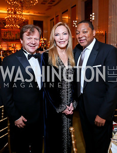Igor Butman, Susan Lehrman, Wynton Marsalis. Photo by Tony Powell. 2013 Friends in Time of War Gala. Russian Federation. October 7, 2013