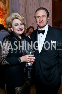 Hilda Ochoa Brillembourg and Arturo Brillembourg. Photo by Tony Powell. 2013 Friends in Time of War Gala. Russian Federation. October 7, 2013
