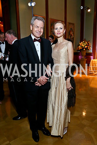 Eberhard von Loehneysen and former Bolshoi Ballet principal dancer Veronika Loehneysen. Photo by Tony Powell. 2013 Friends in Time of War Gala. Russian Federation. October 7, 2013