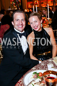Sam Hornblower and Emily Allen Hornblower. Photo by Tony Powell. 2013 Friends in Time of War Gala. Russian Federation. October 7, 2013