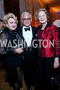 Hilda Ochoa Brillembourg, John Mason, Susan Eisenhower. Photo by Tony Powell. 2013 Friends in Time of War Gala. Russian Federation. October 7, 2013