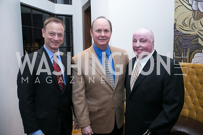 "Gary Sinise, Larry Work, Michael Schlitz. Gary Sinise Foundation and The Caucus Room Brasserie ""Inspiration to Action,"" fundraising dinner. Photo by Alfredo Flores. Westin Georgetown. March 20, 2013"