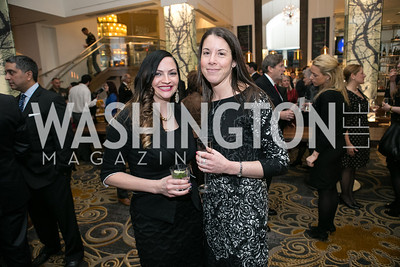 "Catherine Carter, Stefanie Lazanov. Gary Sinise Foundation and The Caucus Room Brasserie ""Inspiration to Action,"" fundraising dinner. Photo by Alfredo Flores. Westin Georgetown. March 20, 2013"