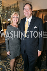 "Larry Christensen, Judy Otter. Gary Sinise Foundation and The Caucus Room Brasserie ""Inspiration to Action,"" fundraising dinner. Photo by Alfredo Flores. Westin Georgetown. March 20, 2013"