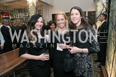 "Catherine Carter, Christine Strang, Stefanie Lazanov. Gary Sinise Foundation and The Caucus Room Brasserie ""Inspiration to Action,"" fundraising dinner. Photo by Alfredo Flores. Westin Georgetown. March 20, 2013"