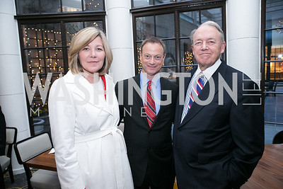 "Susan Forbes, Gary Sinise, Jim May, Graham Davidson. Gary Sinise Foundation and The Caucus Room Brasserie ""Inspiration to Action,"" fundraising dinner. Photo by Alfredo Flores. Westin Georgetown. March 20, 2013"