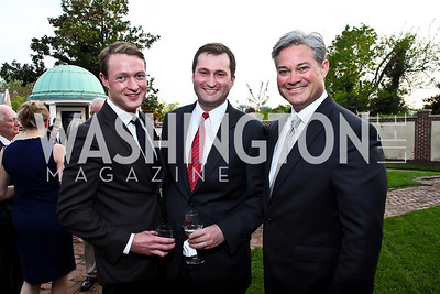 Christopher Leary, Adam Racliff, Mark Lowham. Photo by Tony Powell. Georgetown House Tour Patrons Party. Anderson/Schappell residence. April 24, 2013